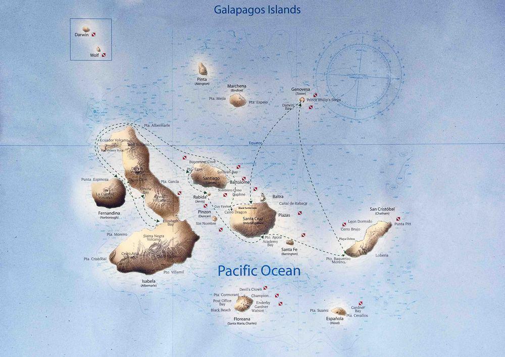 Blog Galapagos map