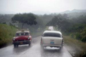 Giron - en route in storm - Cuba
