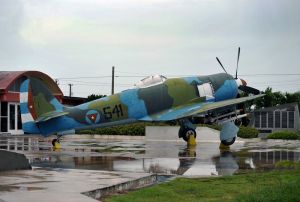 Giron - museum to Bay of Pigs invasion - Hawker Sea Fury in spook markings - Cuba