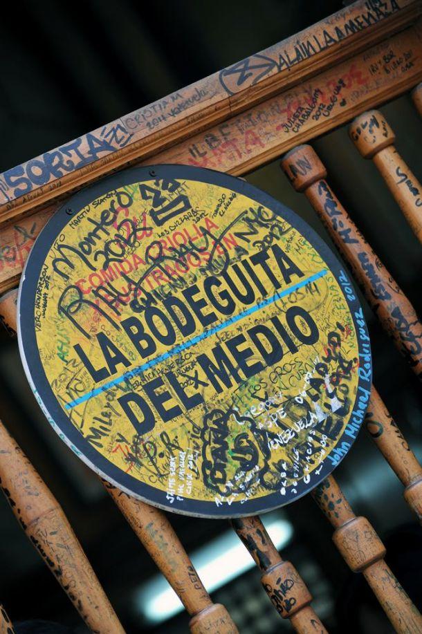 Havana - La Bodeguita del Medio exterior sign - Cuba