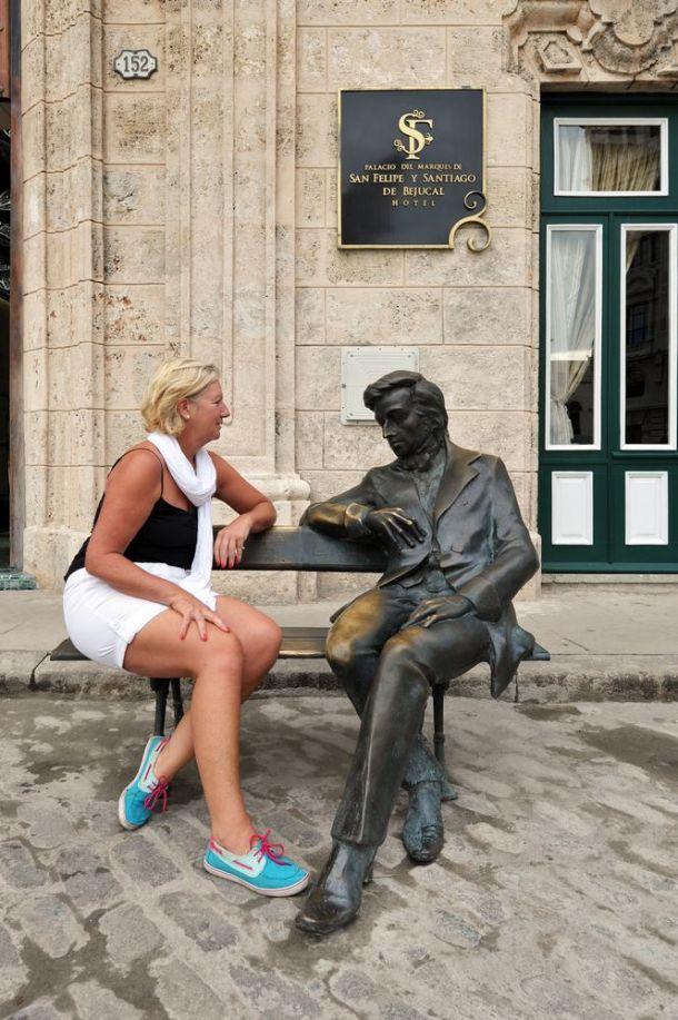 Havana - statue in Plaza de San Francisco - Cuba