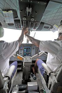 Maldives,DHC Twin Otter seaplane cockpit