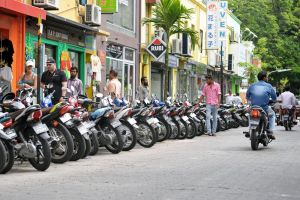 Maldives,Male street scene