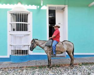 Trinidad - man on horseback - Cuba