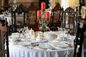 Trinidad - old town - Parador home restaurant table setting - Cuba