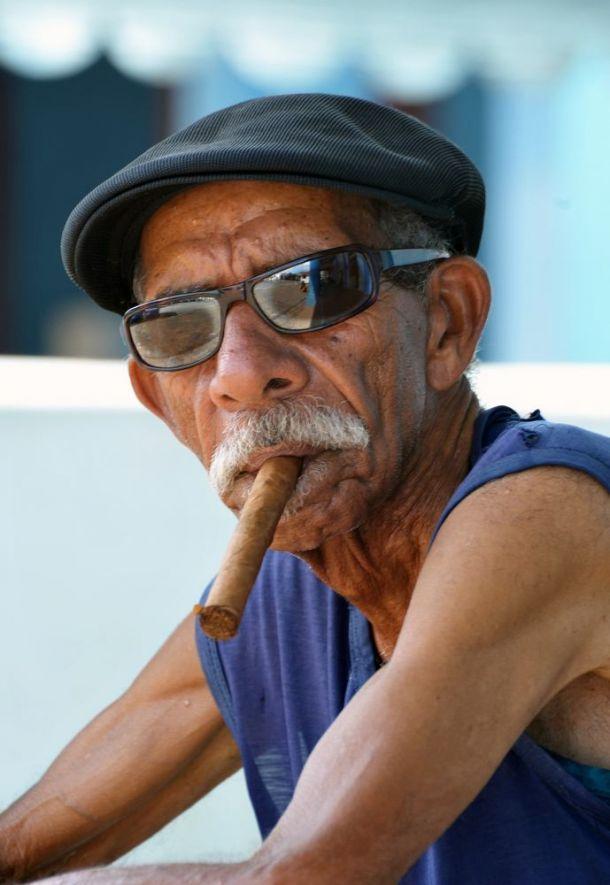 Vinales - cigar smoker 3 - Jose Martin Square - Cuba