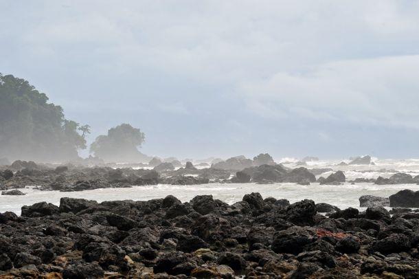 Storm swept Corcovado Coast, Cost Rica