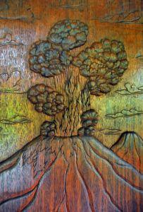 Wooden door carving 3, Costa Rica