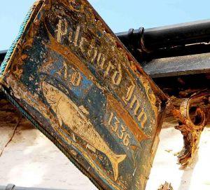 Burgh Island Pilchard Inn sign