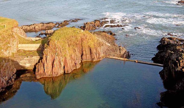 Burgh Island pool landscape