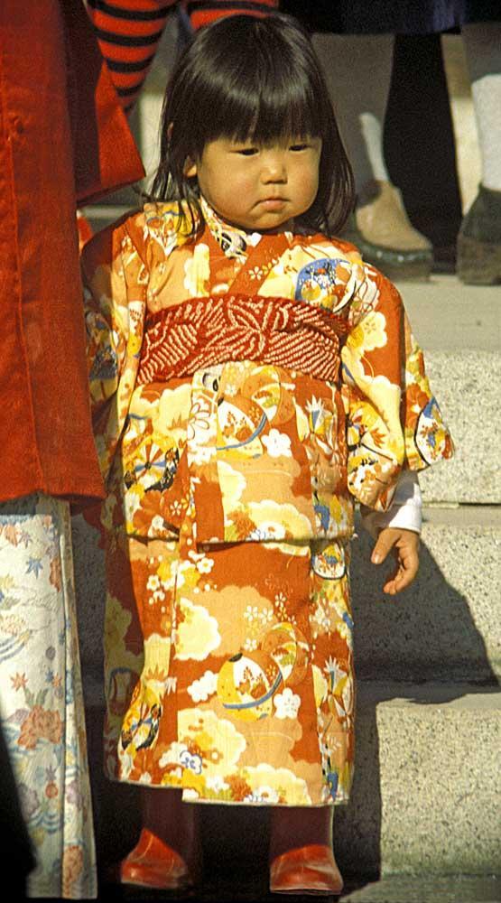 Child in traditional Kimono