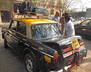 Geoff and taxi small Mumbai