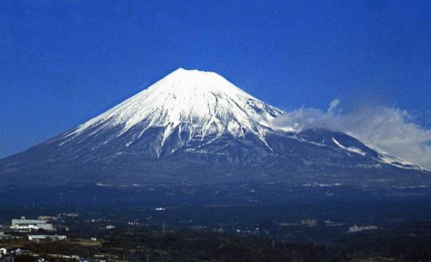 Mt Fuji through train window