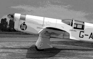 Breighton Percival P-6 Mew Gull G-AEXF posterised
