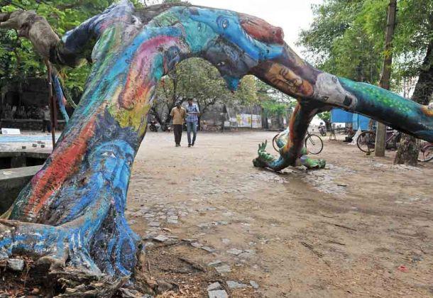 India, Kerala, Cochin, park