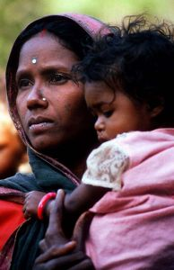 India mother and child