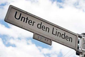 TLC Berlin - Unter den Linden sign